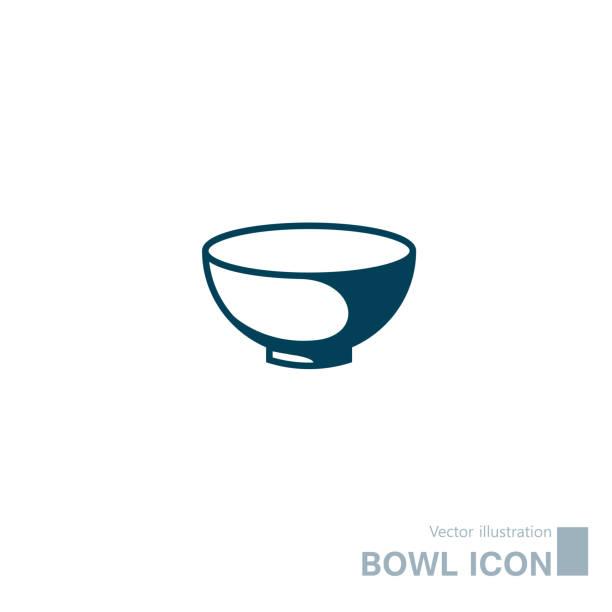 ilustrações de stock, clip art, desenhos animados e ícones de vector drawn bowl icon. - tigela