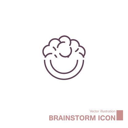 Vector drawn brain icon.