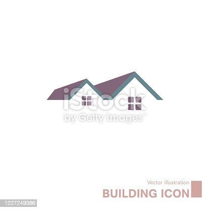 istock Vector drawn building icon. 1227249386