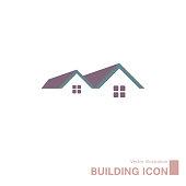 istock Vector drawn building icon. 1227249386