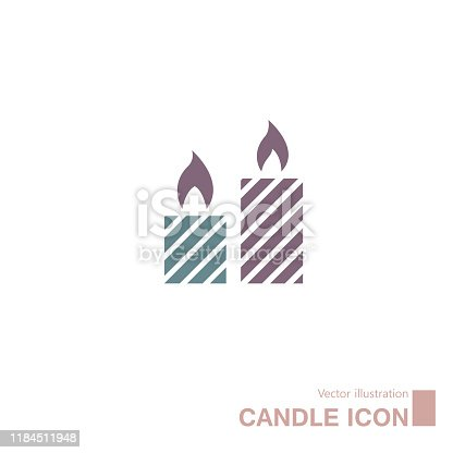 istock Vector drawn candle icon. 1184511948