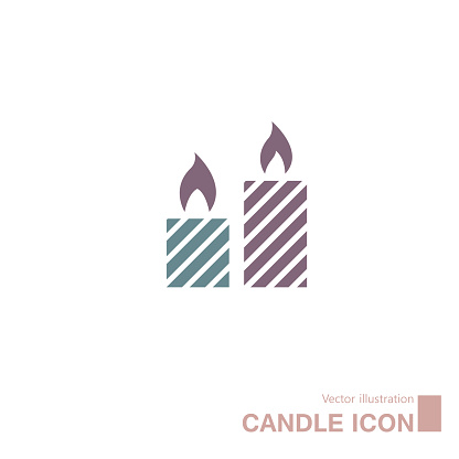 Vector drawn candle icon.