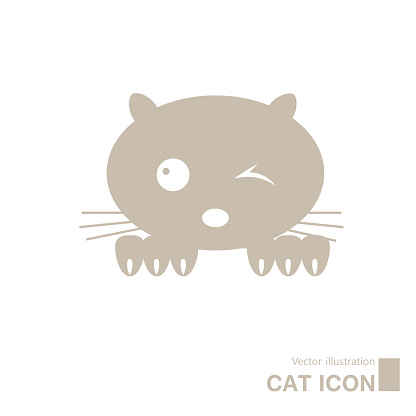 Vector drawn cat icon.