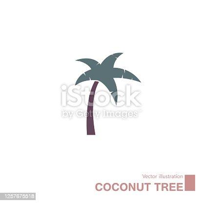 istock Vector drawn coconut tree. 1257675518