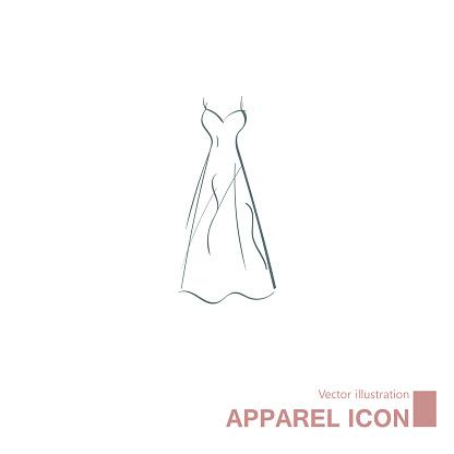 Vector drawn dress.