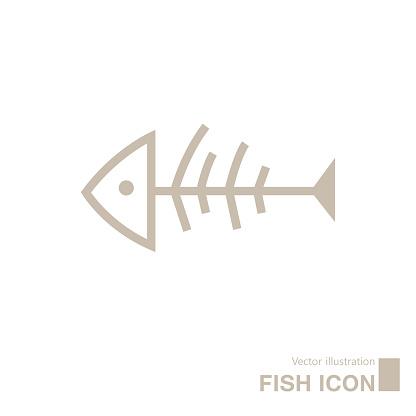 Vector drawn fish icon.
