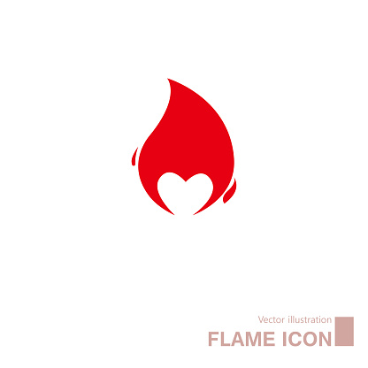 Vector drawn flame.