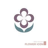 istock Vector drawn flower icon. 1314646269