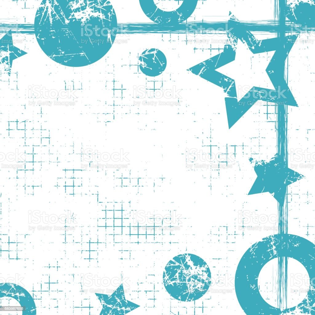 Ilustración de Vector Fondo Geométrico Dibujado Con Figuras ...