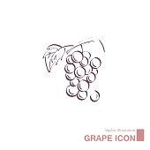 istock Vector drawn grapes. 1270862586
