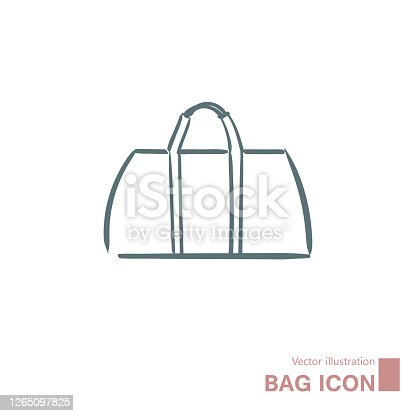 istock Vector drawn handbag. 1265097825