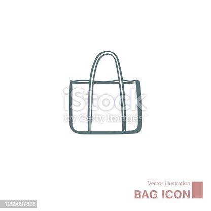 istock Vector drawn handbag. 1265097826