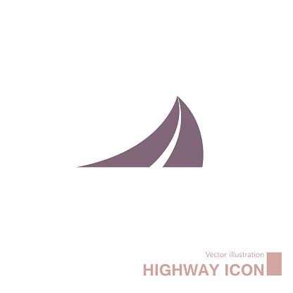 Vector drawn highway icon.