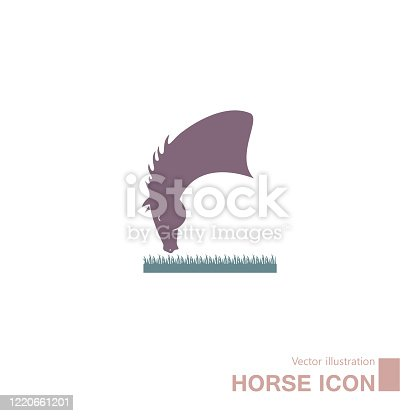 Vector drawn horse icon. Isolated on white background.