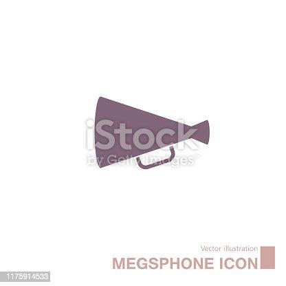 istock Vector drawn megaphone icon. 1175914533