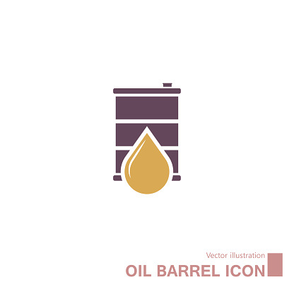 Vector drawn oil barrel.