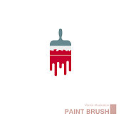 istock Vector drawn paint brush. 1217956041
