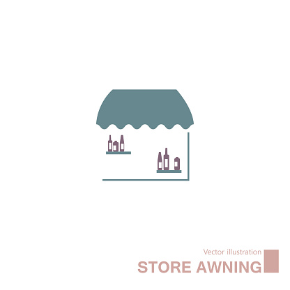 Vector drawn retail store icon.