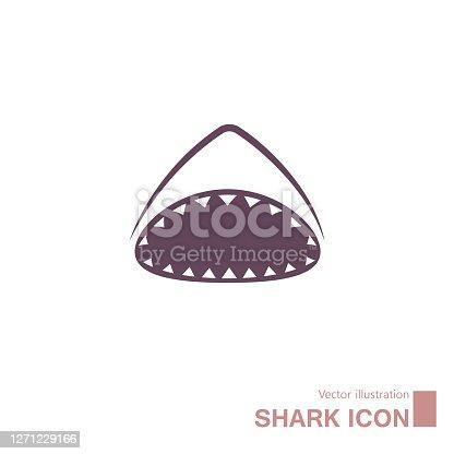 istock Vector drawn shark. 1271229166