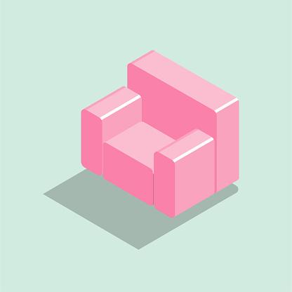 Vector drawn single sofa.