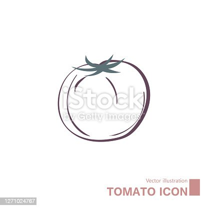 istock Vector drawn tomatoes. 1271024767