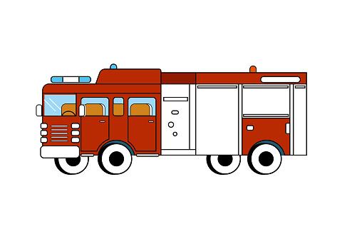 Vector drawn transportation.