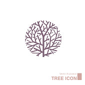 istock Vector drawn tree. 1193516237