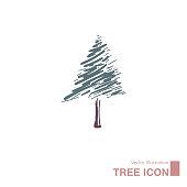 istock Vector drawn tree. 1272165591