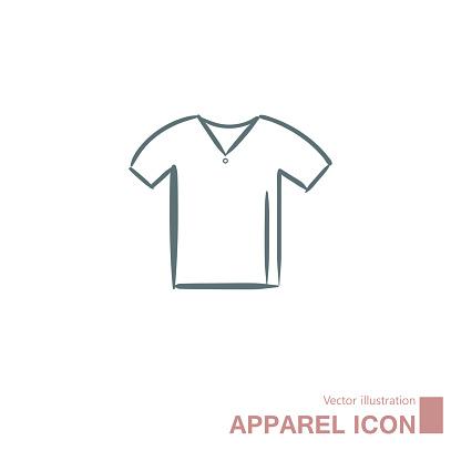 Vector drawn t-shirt.