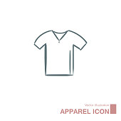 istock Vector drawn t-shirt. 1267740131