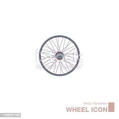 istock Vector drawn wheel icon. 1299357493