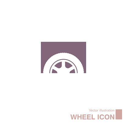 Vector drawn wheel icon.