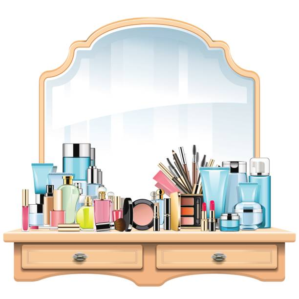 Dressing Room Mirror Lights Vector