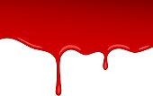 Vector drip red blood jam. Paint vector splash and splatter like strawberry syrup or ketchup transparent Background.