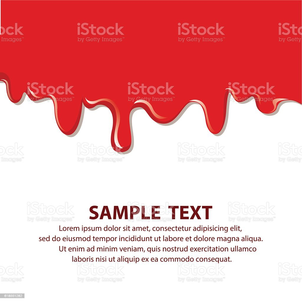 Vector dripping blood. Blood liquid, vector illustration vector art illustration