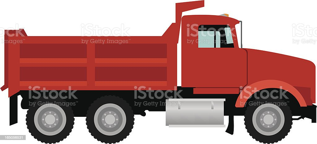 Vector Dump Truck vector art illustration