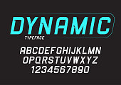 istock Vector dynamic bold italic font design, alphabet, typeface, typo 859743184