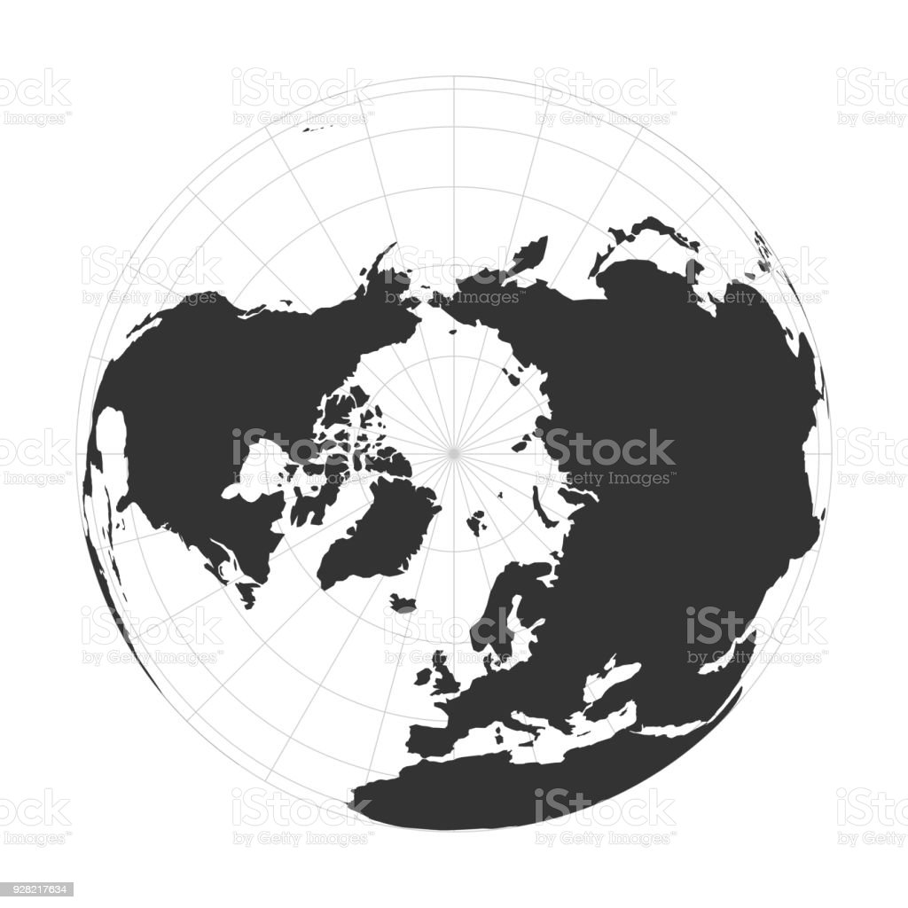 Vector earth globe focused on arctica and north pole stock vector vector earth globe focused on arctica and north pole royalty free vector earth globe focused gumiabroncs Choice Image