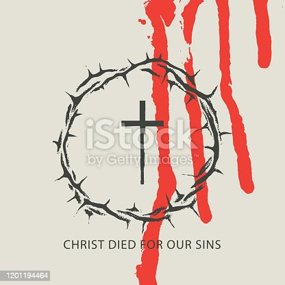 istock Vector Easter banner. Christ died for our sins 1201194464
