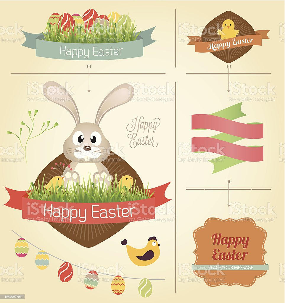 Vector Easter Design Element royalty-free stock vector art