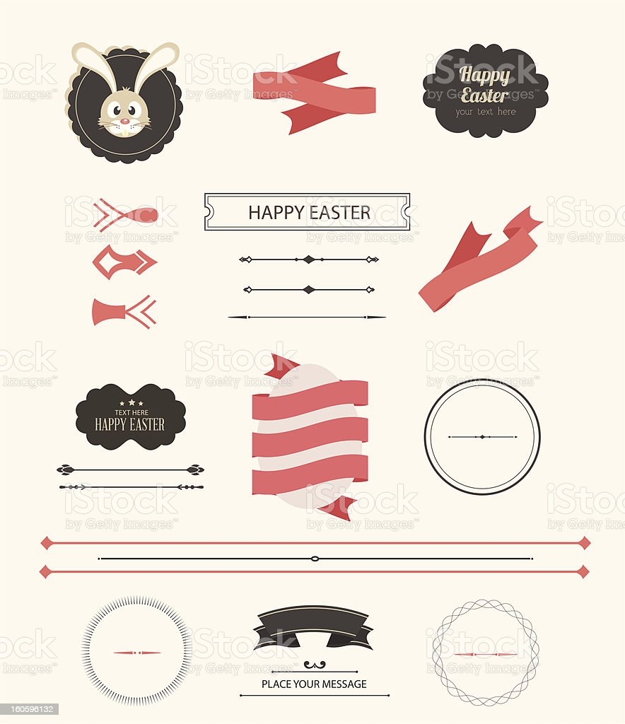Vector Easter Design Element royalty-free vector easter design element stock vector art & more images of animal