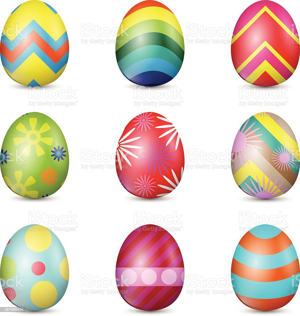 Vector Easter Eggs vector art illustration