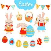 Vector Easter set.
