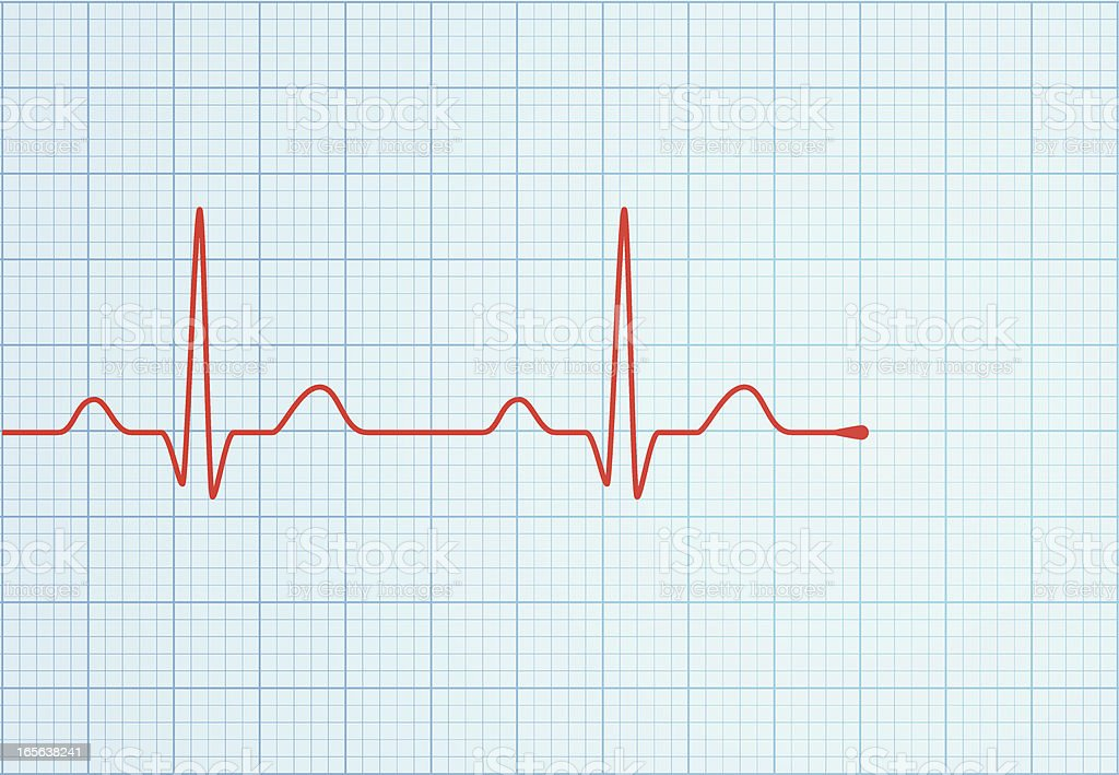 vector ecg trace stock vector art amp more images of cardiac