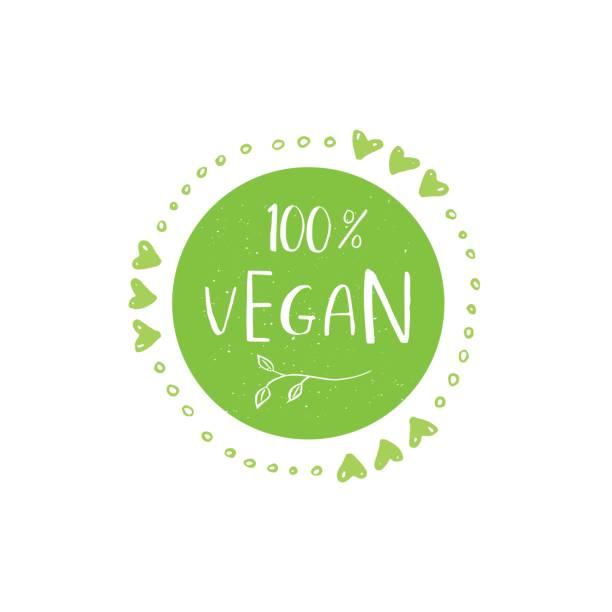 Vector eco, bio green  or sign. Vegan, raw, healthy food badge vector art illustration