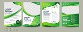 istock Vector eco flyer, poster, brochure, magazine cover template. Modern green leaf, environment design - Vector 1182562659