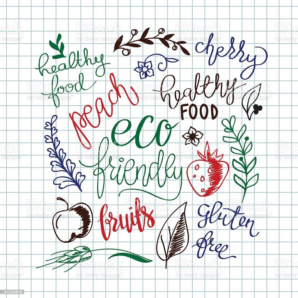 Vector eco friendly concept - design element made from stickers vector eco friendly concept design element made from stickers – cliparts vectoriels et plus d'images de abstrait libre de droits