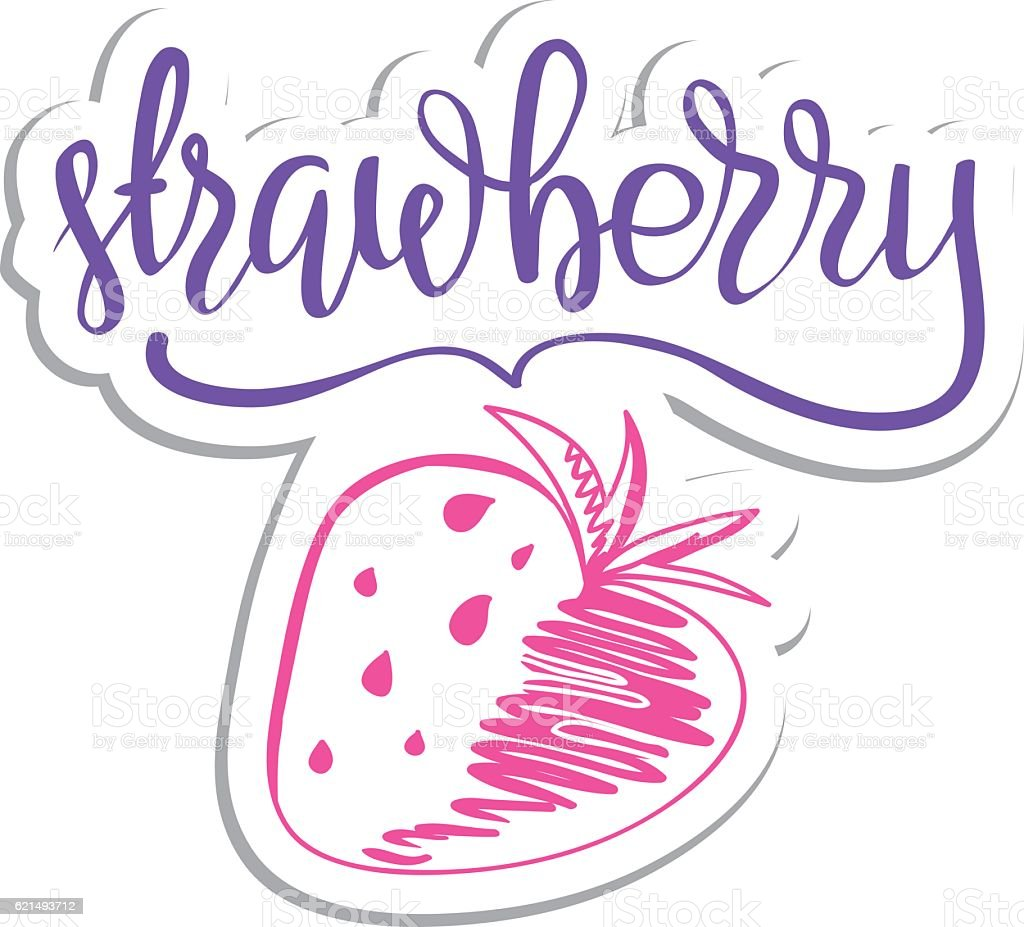 Vector eco friendly strawberry concept - design element made from vector eco friendly strawberry concept design element made from - immagini vettoriali stock e altre immagini di albero royalty-free