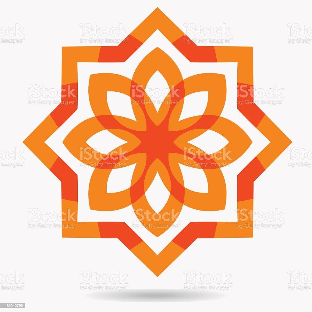 Vector eco icon , flower design element. vector art illustration