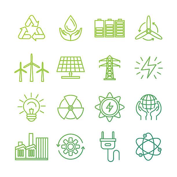 вектор экологии знаки и значки - lightning stock illustrations
